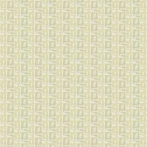 crossflower - pale moss grey & white coordinate