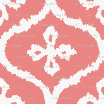 Coral Ikat Ogee