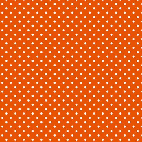 Swiss Dots Orange fabric by lulabelle on Spoonflower - custom fabric