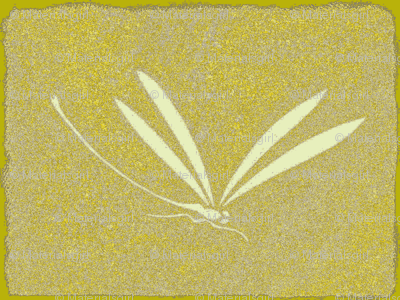 dragonfly tile - yellow, stone, cream