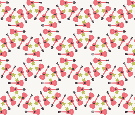 Ukulele Star fabric by owlandchickadee on Spoonflower - custom fabric