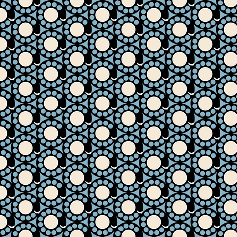 Deposit 10¢ (Blue) fabric by pennycandy on Spoonflower - custom fabric