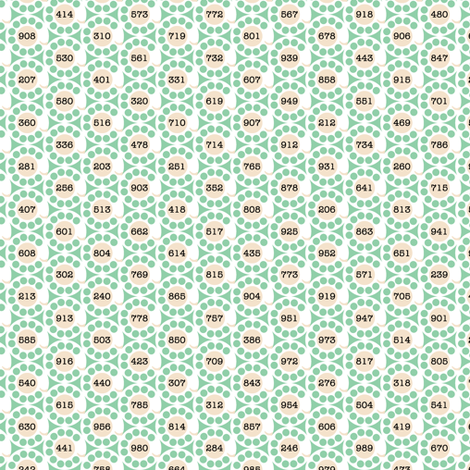 Deposit 10¢* (Green Stamps) || vintage analog telephone phone rotary dial area codes fabric by pennycandy on Spoonflower - custom fabric