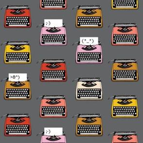 Typewriter Emojis* (Pepper Pot) || type text vintage analog symbols emoticons greetings