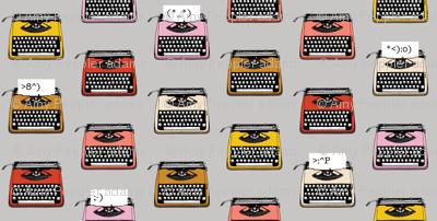 Typewriter Emojis* (Silkscreen) || type text vintage analog symbols emoticons greetings