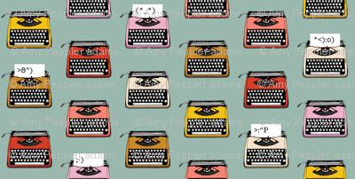Typewriter Emojis* (Camouflage) || type text vintage analog symbols emoticons greetings
