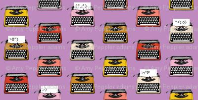 Typewriter Emojis* (Lavender Disaster) || type text vintage analog symbols emoticons greetings
