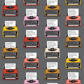 Pangram Typewriters* (Pepper Pot) || vintage retro typewriters text typography poetry geek office