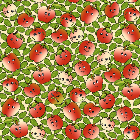 One Bad Apple fabric by eclectic_house on Spoonflower - custom fabric
