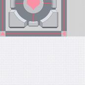 Companion Cube Cheater Quilt