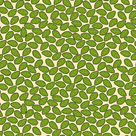 Apple leaves fabric by eclectic_house on Spoonflower - custom fabric