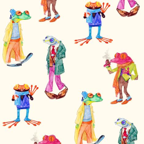 Frogs fabric by jadegordon on Spoonflower - custom fabric