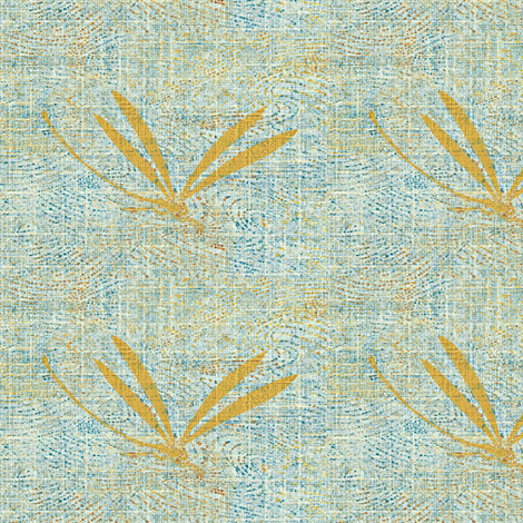 dragonfly mist - light blue, gold fabric by materialsgirl on Spoonflower - custom fabric