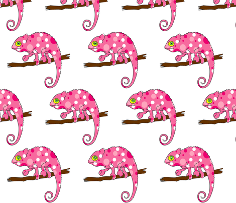 Pink Chameleon fabric by zedralz on Spoonflower - custom fabric
