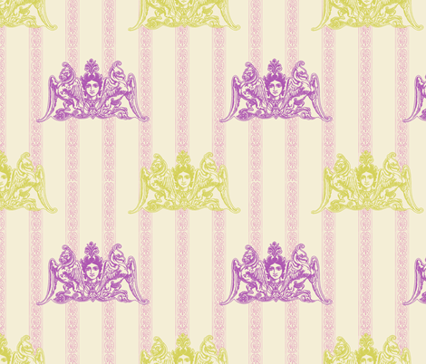 Urban Myth (in Victorian Tea Party) fabric by nouveau_bohemian on Spoonflower - custom fabric