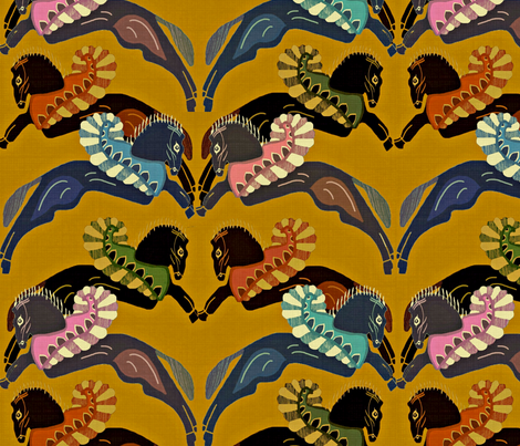Pegasus fabric by susan_polston on Spoonflower - custom fabric