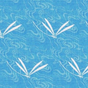 dragonfly ripples - mediterranean blue