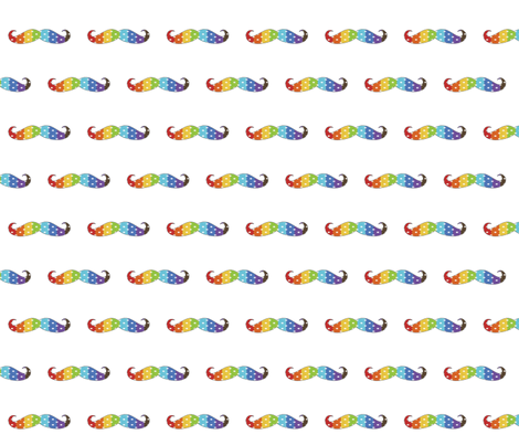 Rainbow Polka-stache fabric by zedralz on Spoonflower - custom fabric