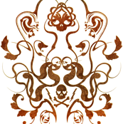 Skull Damask 1