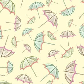 Tumbling Parasols (Lemon)