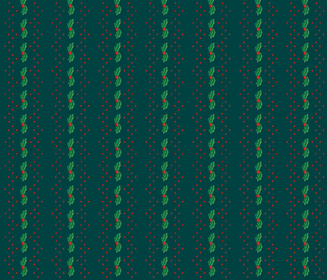 Green Holly Stripe ©2013 by Jane Walker fabric by artbyjanewalker on Spoonflower - custom fabric