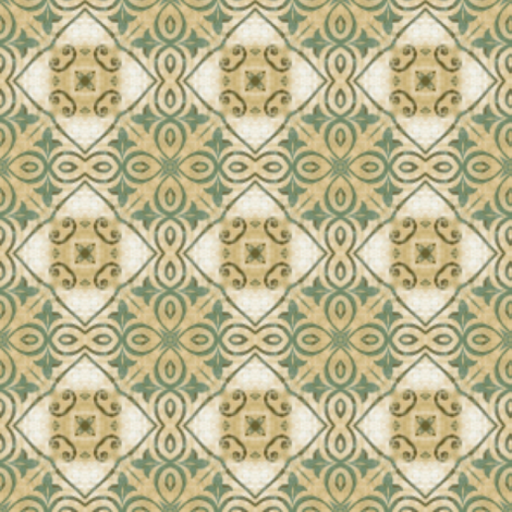 tile we meet again fabric by mezzime on Spoonflower - custom fabric