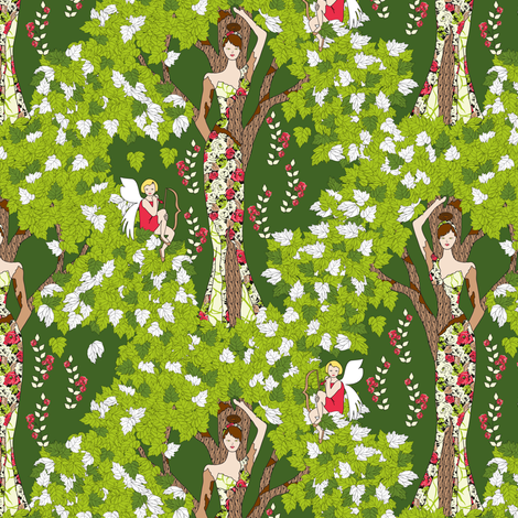 Daphne's Dilemma fabric by mag-o on Spoonflower - custom fabric