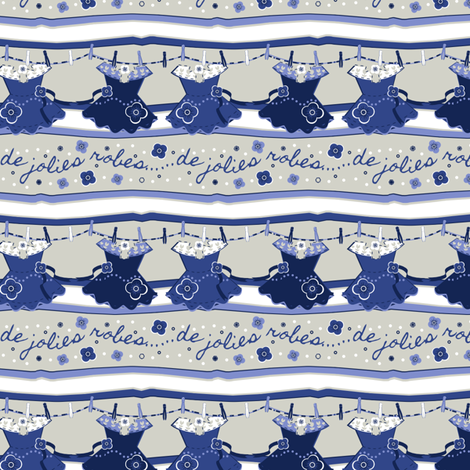 Pretty Blue Dresses fabric by eppiepeppercorn on Spoonflower - custom fabric