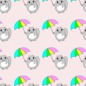 Momonga in the Raindrops PINK