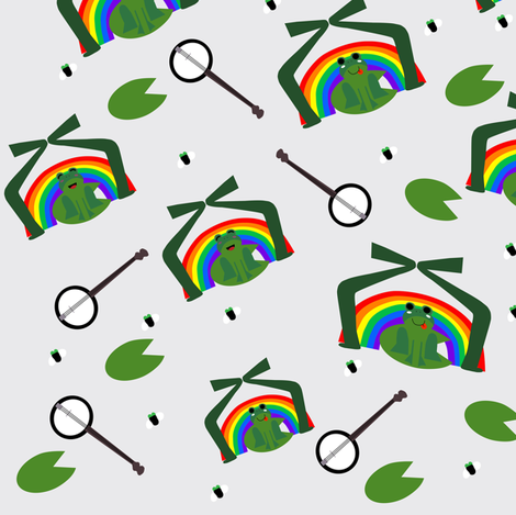 The Rainbow Connection fabric by pink_koala_design on Spoonflower - custom fabric