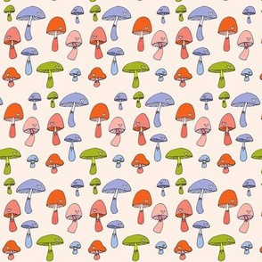 Merry Mushrooms in Orange