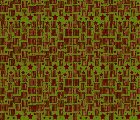 alphabet_red_33-ed fabric by playbox_ on Spoonflower - custom fabric