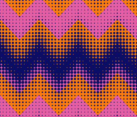 Bubble Chevron - Mod Op Art  fabric by elramsay on Spoonflower - custom fabric
