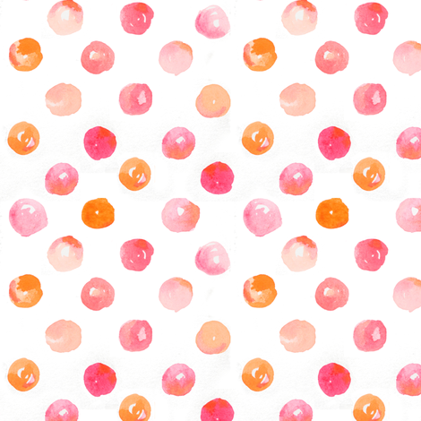 polkadots in water fabric by emilysanford on Spoonflower - custom fabric