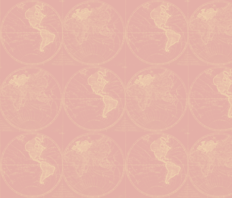 Map Rose fabric by eto on Spoonflower - custom fabric
