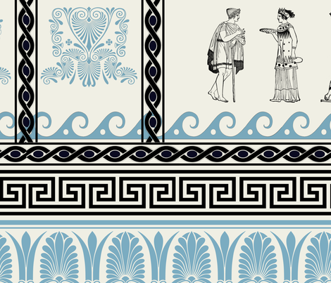 Ancient Greek Gods and Goddesses fabric by lollyposh on Spoonflower - custom fabric