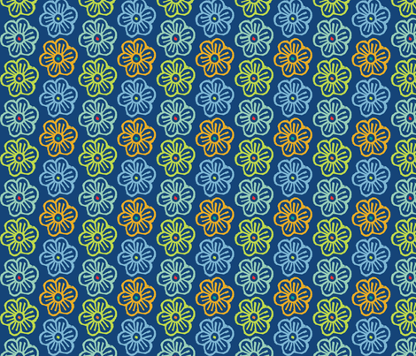 Full of Flowers fabric by jara_by_jacki on Spoonflower - custom fabric
