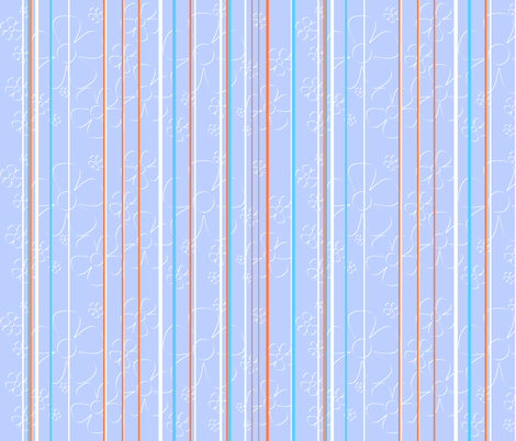 Daisy Stripes - cotton candy fabric by wiccked on Spoonflower - custom fabric
