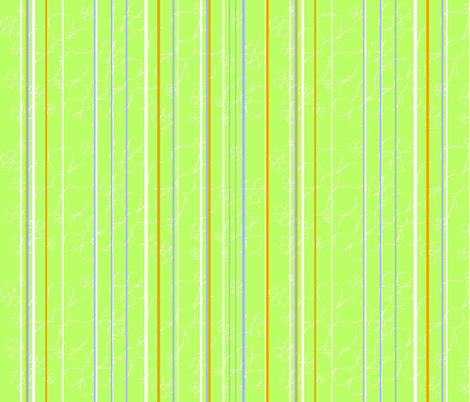Daisy stripes - key lime fabric by wiccked on Spoonflower - custom fabric
