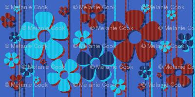 Striped Daisies - blueberry tart
