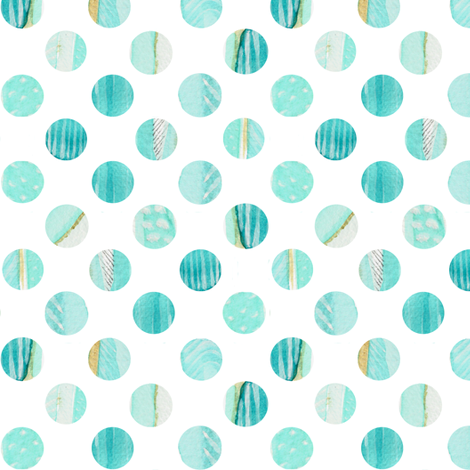 Watercolor Polka dot in Blues fabric by emilysanford on Spoonflower - custom fabric