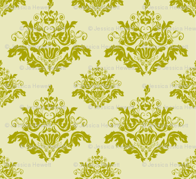 Rococo Pattern-Green