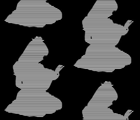 White & Black stripe  Words words words-ch fabric by walkwithmagistudio on Spoonflower - custom fabric