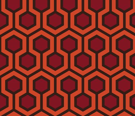 Overlook Hotel Hallway Carpet Large fabric by mariafaithgarcia on Spoonflower - custom fabric