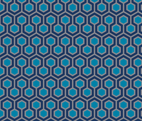 Honeycomb Serene fabric by mariafaithgarcia on Spoonflower - custom fabric