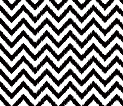 blak and white chevron ikat fabric by katarina on Spoonflower - custom fabric