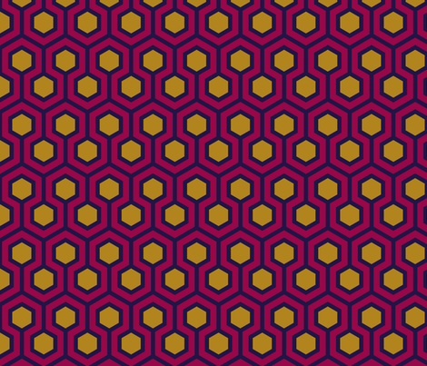 Honeycomb Geometric 2 fabric by mariafaithgarcia on Spoonflower - custom fabric