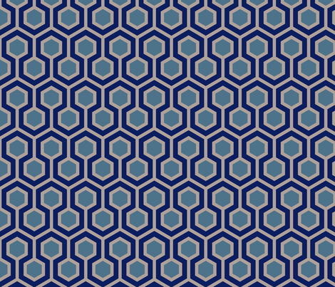 Honeycomb Geometric 4 fabric by mariafaithgarcia on Spoonflower - custom fabric