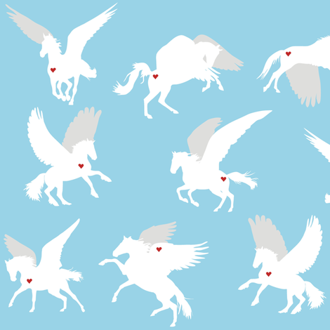 Pegasus fabric by smuk on Spoonflower - custom fabric