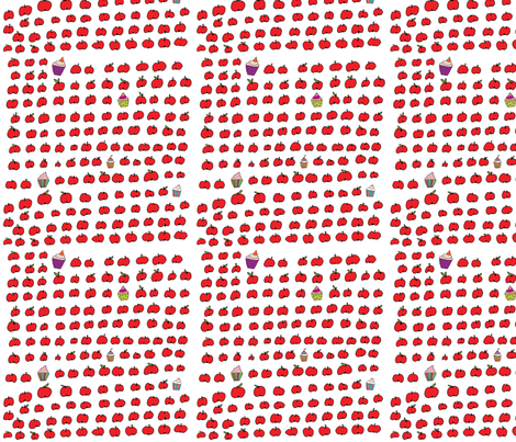 apple fabric by cocinarosa on Spoonflower - custom fabric